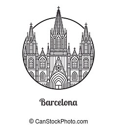 Landmark of Barcelona Icon