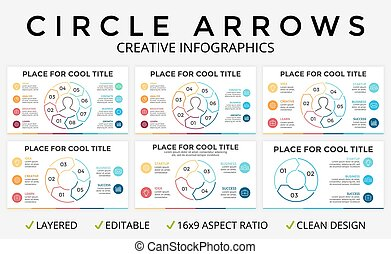 Vector circle arrows infographic, cycle diagram or graph,...