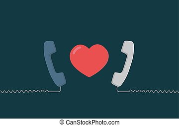 Long Distance Relationship Illustration. Love Talking. Love Call