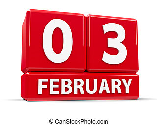 Cubes 3rd February - Red cubes - The Third of February - on...