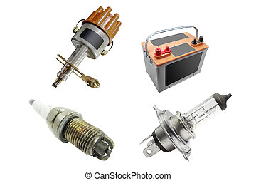 spare parts - The image of different kinds of automobile...