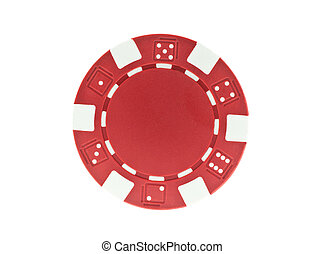 red poker chip isolated