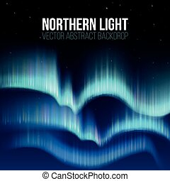 Northern lights, nunavut canada, pole arctic night abstract...