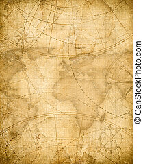aged pirates treasure map background - aged treasure map...