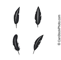 Vector feather icons set on white background
