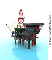 Drilling Rig - Isolated 3D representation of a Drilling Rig...