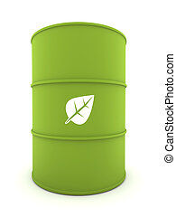 Bio-Fuel Drum - 3D representation of a Bio-Fuel Drum with...