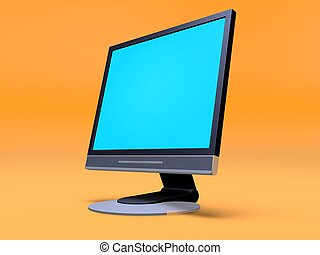 lcd display - 3d rendered illustration ofa display on an...