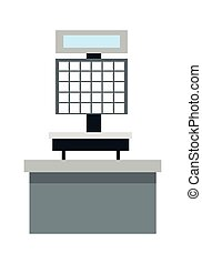 Automatic Electronic Check Printing Scales Vector -...