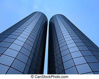 office building - 3d rendered illustration of big business...