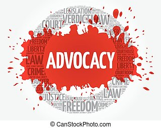 Advocacy word cloud concept