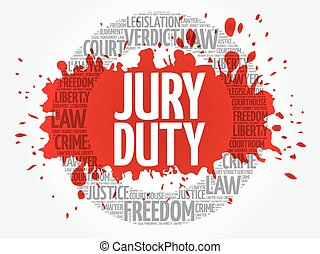 Jury Duty word cloud concept
