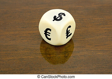 Dice (dollar, euro, pound)