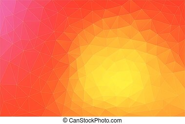 abstract triangle 2D geometric orange background - abstract...
