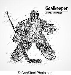 goalie, abstraction, hockey - Abstract hockey goalkeeper of...