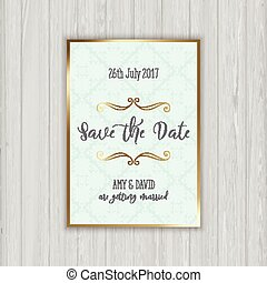 Decorative save the date invitation - Save the date...