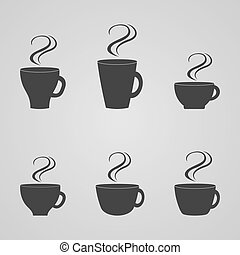 Set of coffee cups, vector illustration