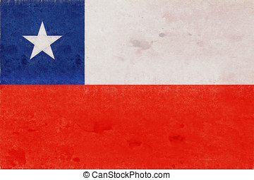 Flag of Chile Grunge - Illustration of the flag of Chile...