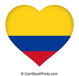 Flag of Colombia Heart
