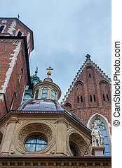 Inside of the Wawel royal castle - Royal Archcathedral...