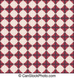Vector geometric seamless ornamental pattern. - Vector...