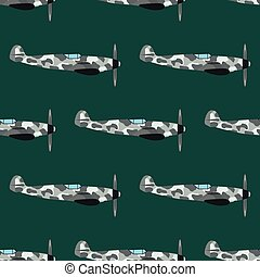 Airplane seamless pattern vector illustration. - Vector...