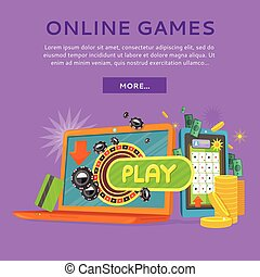 Online Casino on Tablet Computer and Laptop - Online casino...