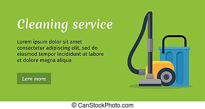 Cleaning Service Banner - Green cleaning service banner with...