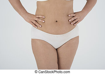 Close up of woman with overweight