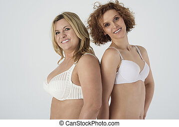 Waist up photography of mature women
