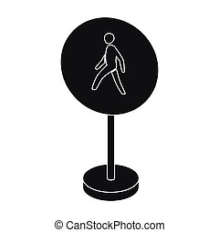 Mandatory road signs icon in monochrome style isolated on...