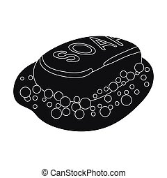 Soap icon in black style isolated on white background....