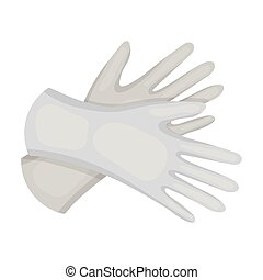 Rubber gloves icon in monochrome style isolated on white...