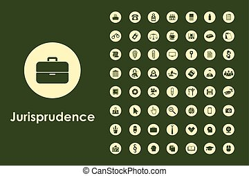Set of jurisprudence simple icons - It is a set of...