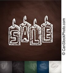 SALE icon. Hand drawn vector illustration. Chalkboard Design