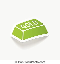 realistic design element. bullion gold