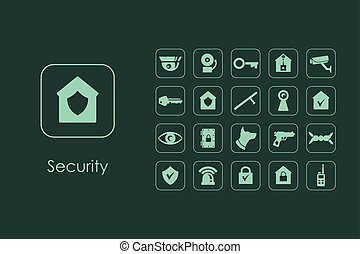Set of security simple icons - It is a set of security...
