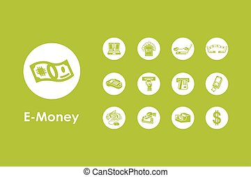 Set of e-money simple icons - It is a set of e-money simple...
