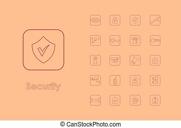 Set of security simple icons