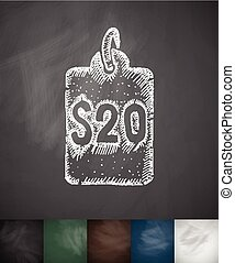 SALE icon. Hand drawn vector illustration. Chalkboard Design