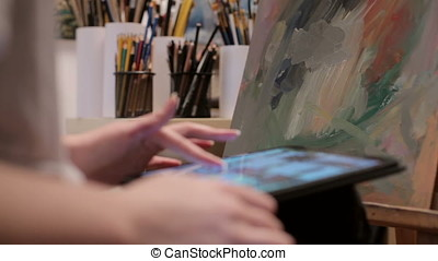 Painter Using A Digital Tablet
