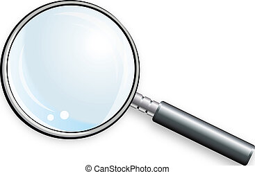 Magnifying glass Color bright decorative background vector...