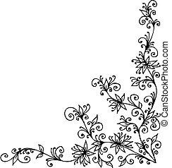 Baroque Pattern vignette XC - Baroque vignette 90. Eau-forte...