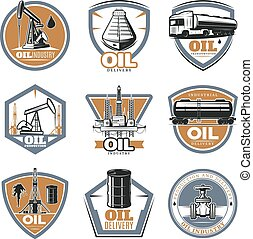 Colorful Oil Extraction Labels - Colorful oil extraction...