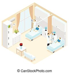Medical Ward Isometric Template