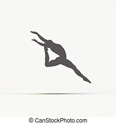Gymnast. Silhouette of a Dancer. Sport Symbol.
