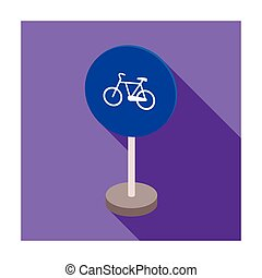 Mandatory road signs icon in flat style isolated on white background. Road signs symbol stock vector illustration.