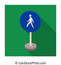 Mandatory road signs icon in flat style isolated on white...