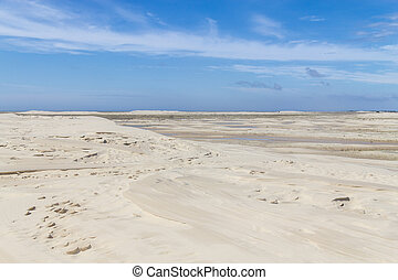 Dunes in the Lagoa do Peixe lake - Dunes with some...