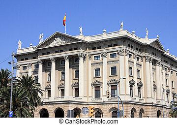 Barcelona - Gobierno Militar building - old landmark in...